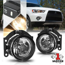 Clear Lens Fog Light Bumper Lamps w/Switch+Harness for 10-15 Mit Outlander/RVR