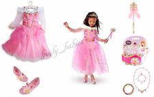 Disney Store Princess Aurora Sleeping Beauty Lot Costume Shoes Crown Wand 5 6