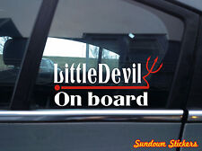 """ little Devil on board "" funny baby / child in car warning Sticker / Decal"