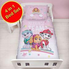 Paw Patrol 4 in 1 Junior Cot Bed Duvet Cover Set Toddler New
