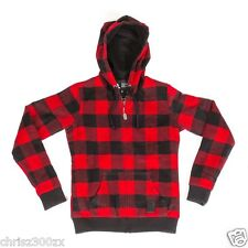 Naughty Dog The Last of Us Ellie's Red Flannel Hoodie Hoody Sweater S M L XL XXL