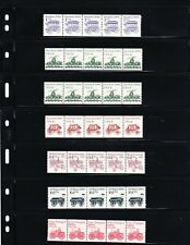 9 Different Transportation Coil MNH PNC Strips