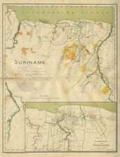 SURINAME & PARAMARIBO plan. Dutch Guiana. South America. DORNSEIFFEN 1902 map