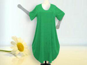 Lagenlook Ballonkleid , Grössen von 48 - 64,Jersey/Baumwolle, grün