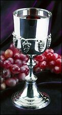 Silver Communion Cup with Grapes NEW SKU KD490