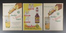 3 x Einwickelpapier BRAUEREI STAUDER ESSEN um 1955