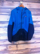 Men's Patagonia non-Insulated Snowshot Ski Jacket color Balkan Blue size large
