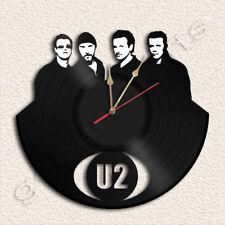 U2 Band Wall Clock Vinyl Record Clock Handmade