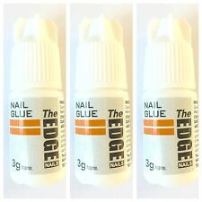 3 x The Edge Professional Nail Tip Strong GLUE 3g (anti-fungal)OFFICIAL STOCKIST