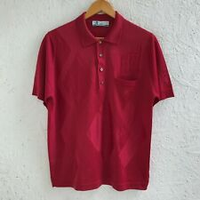 VINTAGE MONTAGUT PARIS MADE IN FRANCE SIZE 4 RED POLO SHIRT CASUAL MENS