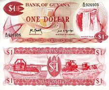 GUYANA 1 Dollar Banknote World Paper Money XF Currency Pick p21h 1992 Bill Note