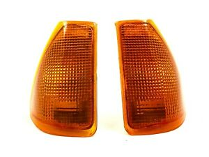 Renault 18 Turn Signal Lens Set Amber Left and Right - NEW - #233AB