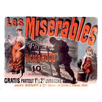 Cheret Hugo Les Miserables Cosette Advert Canvas Wall Art Print Poster