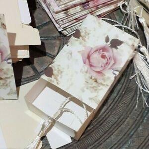 50 New floral vintage favour boxes