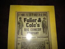 Fuller & Cole's Big Comedy Company & King of Tramps (Vaudeville)