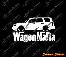 Lowered WAGON MAFIA sticker - for Subaru Forester XT (2nd Generation / SG) jdm