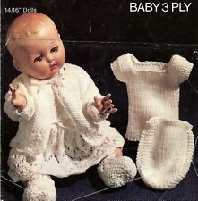 Vintage Baby Dolls Knitting Pattern  3 ply 14-16 ins dolls