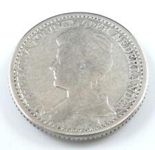 Netherlands 25 cents-Wilhelma-Prägedatum 1911 -640/Silber-3,6gr.D=19mm-
