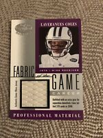 2001 Leaf Certified Fabric Of The Game Laveranues Coles 183/370