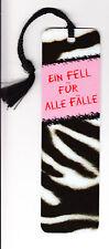 """Lesezeichen arsEdition """"Ein Fell für alle Fälle"""" Zebra"""