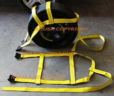 Car Basket Straps Adjustable Tow Dolly DEMCO Wheel Net Set Flat Hook Yx2