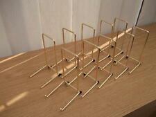 "10 GOLD COLOUR PLATE DISPLAY STANDS UP TO 8"" (20CM) ITEM (5""/12cm tall approx)"