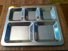 5 Compartment Food Serving Dish Stainless Steel Thali Indian Balti Dinner Plate