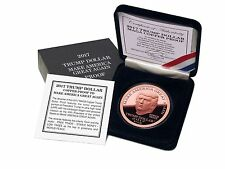 2017 Trump Dollar Make America Great Again 1 oz Copper $5 Norfed Proof USA Round