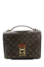 Louis Vuitton Logo Print Coated Canvas Structured  Shoulder Handbag Brown Tan