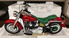 Franklin Mint Harley Davidson FLST FAT BOY 2000 CHRISTMAS B11ZK68 1:10 SCALE NEW