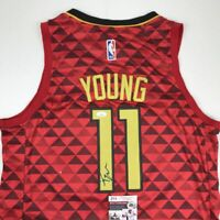 Autographed/Signed TRAE YOUNG Atlanta Red Basketball Jersey JSA COA Auto