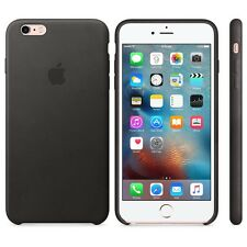 Genuine Official Apple iPhone 6 6s Black Leather Hard Shell Case