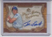 2006 SP Cuts Place in History Ron Santo Autograph /99 Signature Chicago Cubs HOF