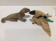 Ty Beanie Baby Scal (Lizard 1999) and Swoop ( Dinosaur) 2000 Set of Two EUC
