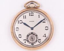 1921 E. Howard Watch Co. 10s 17j Adjusted Series 12 Pocket Watch! Runs!
