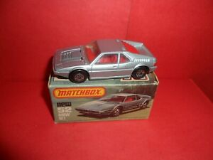 HTF Matchbox 75 #52-BMW M1 In Plain Silver Without Side Tampo,NMIEB,NOS,1980/82.