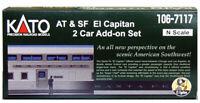 """KATO 1067117 N Scale Santa Fe """"El Capitan"""" 2 Car Set 106-7117 NEW"""