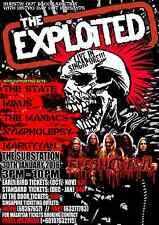 The Exploited 2015 Singapore Concert Tour Poster - Hardcore / Street Punk Music