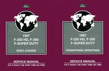 OEM Repair Maintenance Shop Manual Ford Truck F250 Hd/F350/F-Super Duty 1997