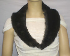 FASHION FAUX FUR COLLAR : PRE CUT AND FULLY LINED :  TWO TONE BROWN : #10262 -
