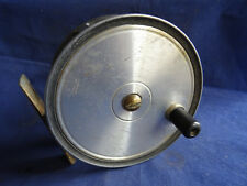 "A SCARCE VINTAGE J W YOUNG 4 1/4"" SALMON REEL WITH RARE PATENT PREEDY BRAKE"