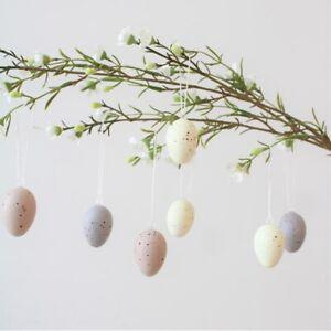 Gisela Graham Set Of 12 Natural Speckled Eggs - Hanging Easter Decorations