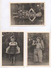 PHOTO LOT 3 Photos Classe de Maternelle École Écolier 1950 Déguisement Indien