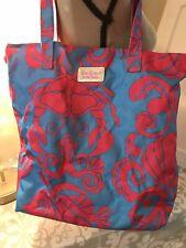 Lilly Pulitzer ESTEE LAUDER Blue Floral Print Beach Tote Bag Purse Travel