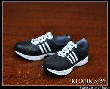 1/6 Kumik Action Figure Accessory - ADS Black Sport Running Sneaker Shoes S-26