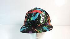 Paint Splash Black Colors caps Splatter Sprite Can fitted hats, bling, retro boy