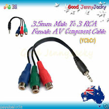Adapter  3.5mm to 3RCA Female Component Video Cable Connector for Samsung LED TV