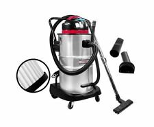 NEW INDUSTRIAL COMMERCIAL BAGLESS DRY WET VACUUM CLEANERS 60L STAINLESS STEEL