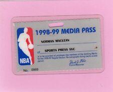 1998-1999 NBA Pass Ticket Tim Duncan MVP Spurs Champs/Paul Pierce Debut