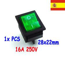 1x interruptor 220V Verde iluminado switch ON/OFF SPDT 125v 250v 230v    123
